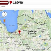 Riga map icon