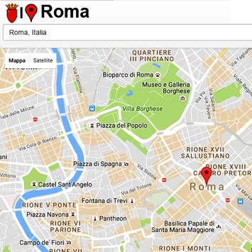 Roma Simply Map poster
