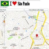 Sao Paulo map icon