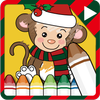 Coloring game - Christmas icon