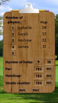 Golf & Discgolf scorecard Free apk screenshot