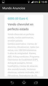 Mundo Anuncio Compra Venta screenshot 1