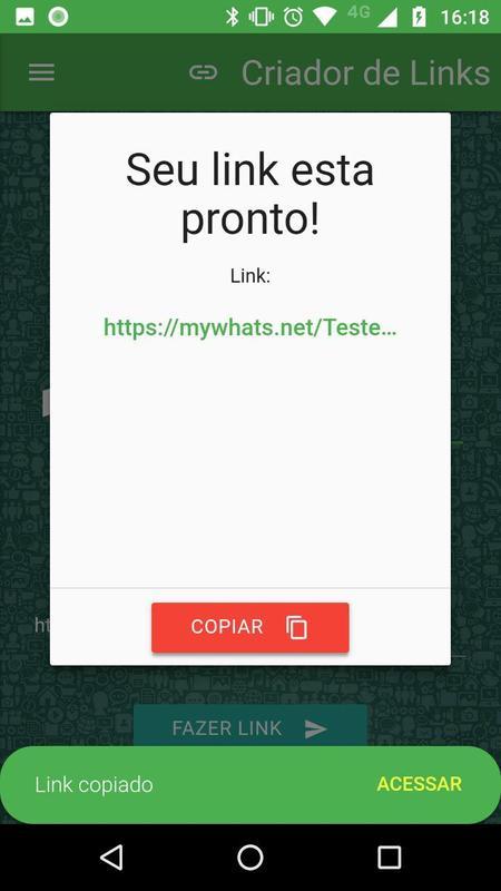 fazer link para whatsapp