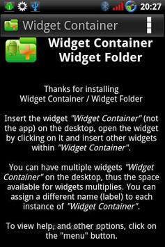 Widget Container screenshot 3