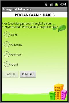 Aplikasi Mengenal Pekerjaan apk screenshot