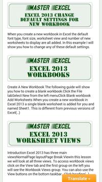 Master Excel poster