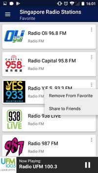 Singapore Radio Stations screenshot 5