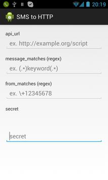 SMS to HTTP poster