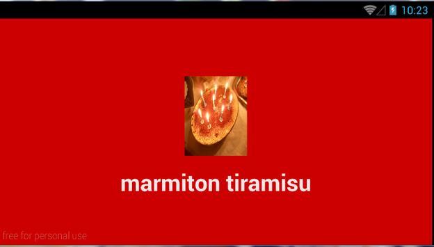 marmiton tiramisu poster