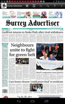 Surrey Advertiser Newspaper poster