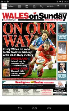 Wales on Sunday Newspaper poster