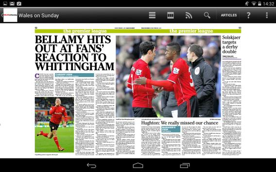 Wales on Sunday Newspaper apk screenshot