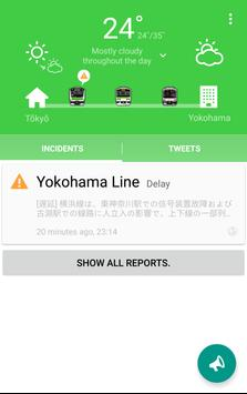 Commuters・Train delay&Weather poster