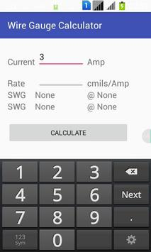 Wire gauge calculator apk download free tools app for android wire gauge calculator poster wire gauge calculator apk screenshot keyboard keysfo