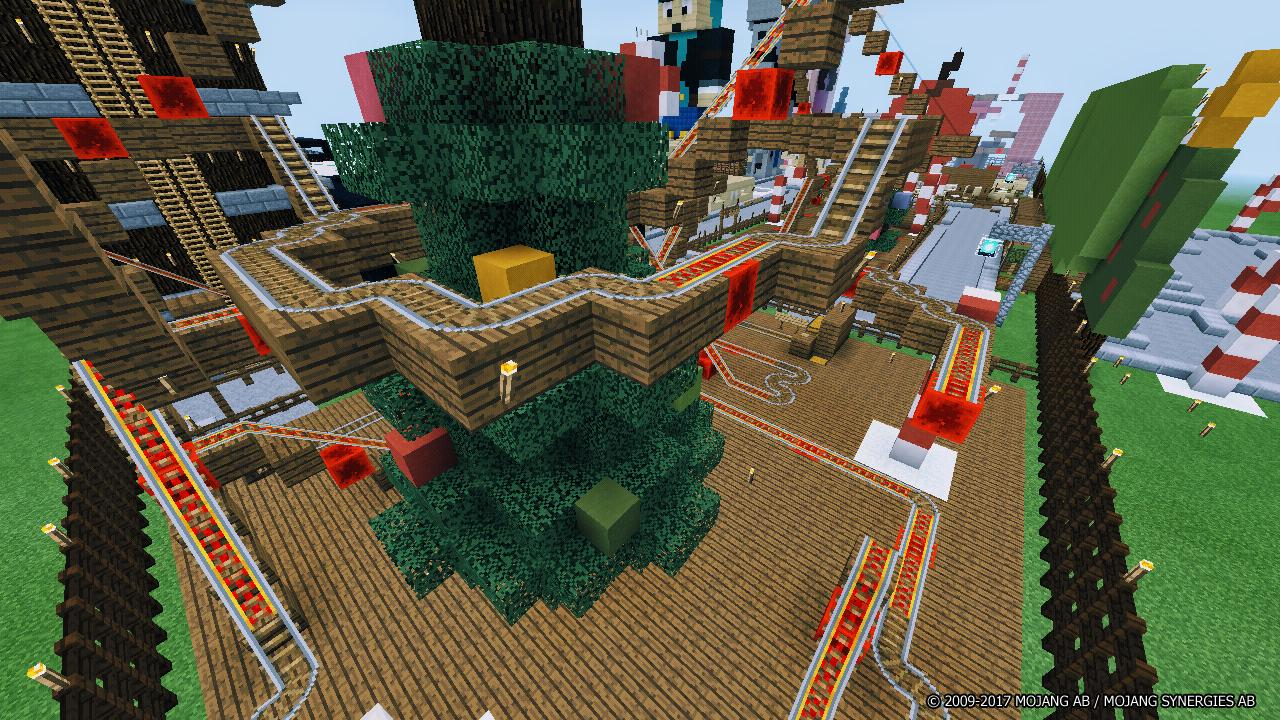 Minecraft Christmas Map.The Christmas Park Minecraft Map For Android Apk Download