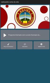 Rádio Web TV Verbo Da Vida poster