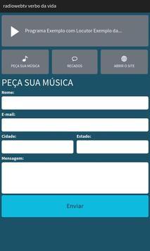 Rádio Web TV Verbo Da Vida screenshot 1