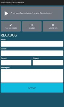 Rádio Web TV Verbo Da Vida screenshot 2