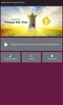 Rádio Web Porque Ele Vive poster