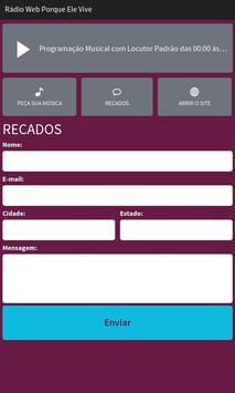 Rádio Web Porque Ele Vive apk screenshot