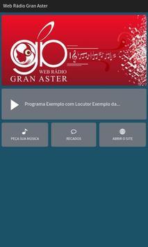 Web Rádio Gran Aster poster