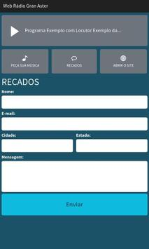 Web Rádio Gran Aster apk screenshot