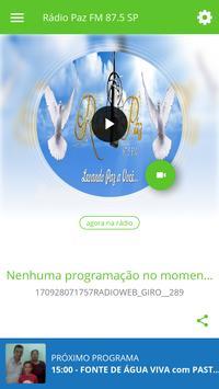 Rádio Paz FM 87.5 SP poster