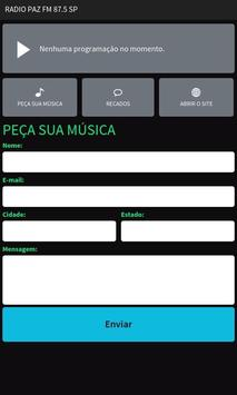 Rádio Paz FM 87.5 SP apk screenshot