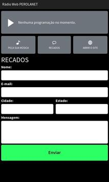 Rádio Web PerolaNet apk screenshot