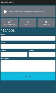 Rádio Rara Web apk screenshot