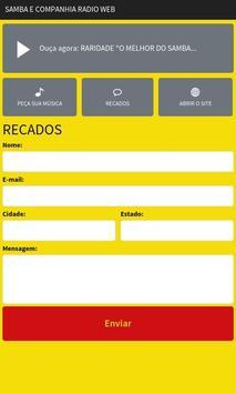 Samba E Companhia Rádio Web apk screenshot