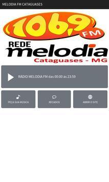 Melodia FM Cataguases poster
