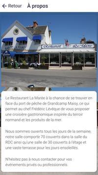 Restaurant La Marée screenshot 4