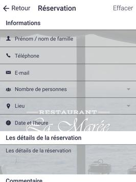 Restaurant La Marée screenshot 8