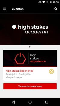 high stakes events poster