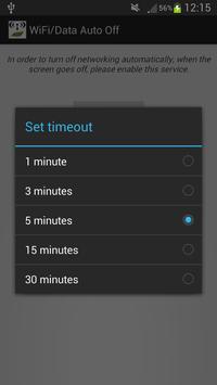 WiFi/Data Auto Off apk screenshot