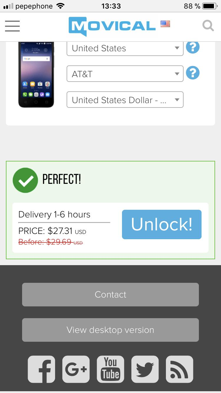AT&T SIM Unlock - Mobile Phone USA & Mexico for Android