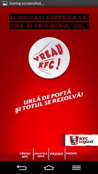 Vreau KFC poster