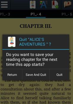 Alice's Adventures -Lewis Carroll (Original Novel) apk screenshot