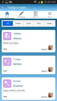 NannyNotes (Child Daily Sheet) screenshot 1