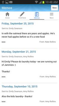 NannyNotes (Child Daily Sheet) screenshot 3