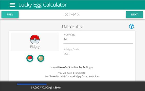 lucky egg calc for pokemon go for android - apk download
