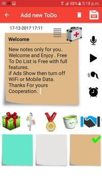 Notepad Note color full To do Reminder Note Color apk screenshot
