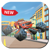 blaze monsters car : city adventure icon