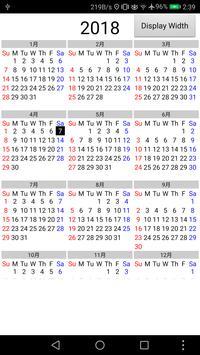 Calendar 1 Year 12 Months poster
