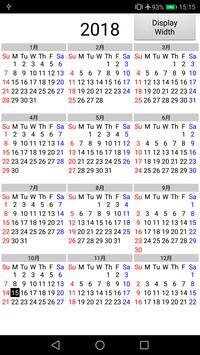 Calendar 1 Year 12 Months screenshot 1