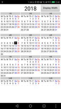 Calendar 1 Year 12 Months apk screenshot