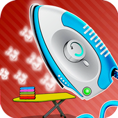 Ironing dresses girls games icon