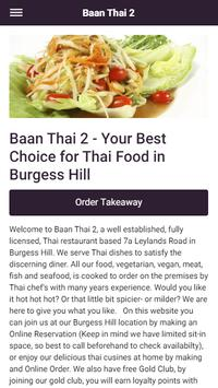 Baan Thai 2 Take Away and Eat In in Burgess Hill poster