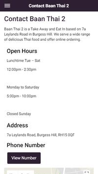 Baan Thai 2 Take Away and Eat In in Burgess Hill screenshot 4